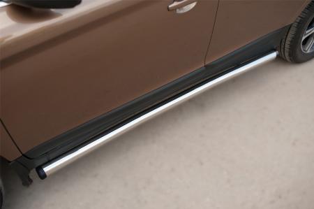 Volvo XC 60 2008-2013 Пороги труба d63 (вариант 2) VXCT-0020782